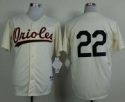Wholesale Orioles #22 Jim Palmer Cream 1954 Turn Back The Clock Stitched Baseball Jersey