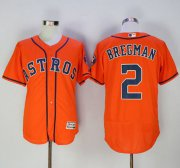 Wholesale Cheap Astros #2 Alex Bregman Orange Flexbase Authentic Collection Stitched MLB Jersey