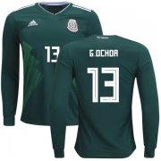 Wholesale Cheap Mexico #13 G.Ochoa Home Long Sleeves Kid Soccer Country Jersey