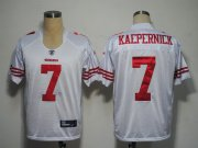 Wholesale Cheap 49ers #7 Colin Kaepernick White Stitched NFL Jersey