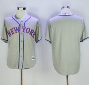 Wholesale Cheap Mets Blank Grey New Cool Base Stitched MLB Jersey