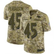 Wholesale Cheap Nike Ravens #45 Jaylon Ferguson Camo Men's Stitched NFL Limited 2018 Salute To Service Jersey