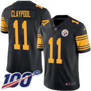 Wholesale Cheap Nike Steelers #11 Chase Claypool Black Youth Stitched NFL Limited Rush 100th Season Jersey