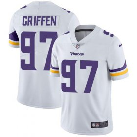Wholesale Cheap Nike Vikings #97 Everson Griffen White Youth Stitched NFL Vapor Untouchable Limited Jersey