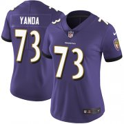 Wholesale Cheap Nike Ravens #73 Marshal Yanda Purple Team Color Women's Stitched NFL Vapor Untouchable Limited Jersey