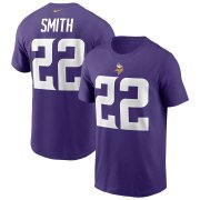 Wholesale Cheap Minnesota Vikings #22 Harrison Smith Nike Team Player Name & Number T-Shirt Purple