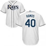 Wholesale Cheap Rays #40 Wilson Ramos White Cool Base Stitched Youth MLB Jersey