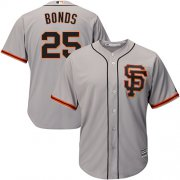 Wholesale Cheap Giants #25 Barry Bonds Grey Road 2 Cool Base Stitched Youth MLB Jersey