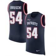 Wholesale Cheap Nike Patriots #54 Tedy Bruschi Navy Blue Team Color Men's Stitched NFL Limited Rush Tank Top Jersey