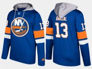 Wholesale Cheap Islanders #13 Mathew Barzal Blue Name And Number Hoodie