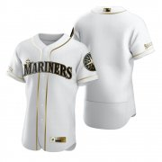 Wholesale Cheap Seattle Mariners Blank White Nike Men's Authentic Golden Edition MLB Jersey