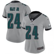 Wholesale Cheap Nike Eagles #24 Darius Slay Jr Silver Women's Stitched NFL Limited Inverted Legend Jersey