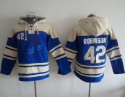 Wholesale Cheap Dodgers #42 Jackie Robinson Blue Sawyer Hooded Sweatshirt MLB Hoodie