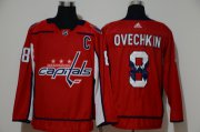 Wholesale Cheap Men's Washington Capitals #8 Alexander Ovechkin Red With Team Logo Adidas Stitched NHL Jersey