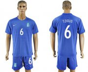 Wholesale Cheap Greece #6 Tziolis Away Soccer Country Jersey