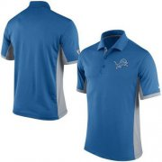 Wholesale Cheap Men's Nike NFL Detroit Lions Blue Team Issue Performance Polo