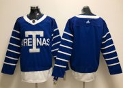 Wholesale Cheap Adidas Maple Leafs Blank Blue Authentic 1918 Arenas Throwback Stitched NHL Jersey