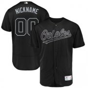 Wholesale Cheap Baltimore Orioles Majestic 2019 Players' Weekend Flex Base Authentic Roster Custom Jersey Black