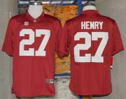 Wholesale Cheap Alabama Crimson Tide #27 Derrick Henry 2014 Red Jersey