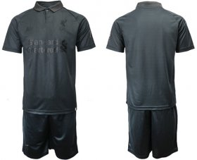 Wholesale Cheap Liverpool Blank Black Soccer Club Jersey