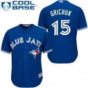 Wholesale Cheap Blue Jays #15 Randal Grichuk Blue New Cool Base Stitched MLB Jersey