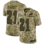 Wholesale Cheap Nike Eagles #21 Ronald Darby Camo Youth Stitched NFL Limited 2018 Salute to Service Jersey