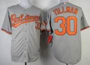 Wholesale Orioles #30 Chris Tillman Grey Cool Base Stitched Baseball Jersey