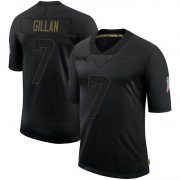 Wholesale Cheap Men's Cleveland Browns #7 Jamie Gillan Black Limited 2020 Salute To Service Nike Jersey