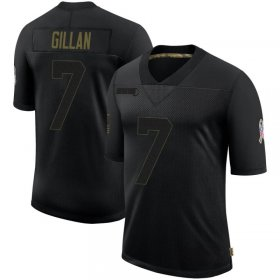 Wholesale Cheap Men\'s Cleveland Browns #7 Jamie Gillan Black Limited 2020 Salute To Service Nike Jersey