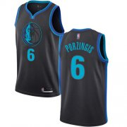 Wholesale Cheap Mavericks #6 Kristaps Porzingis Anthracite Basketball Swingman City Edition 2018-19 Jersey