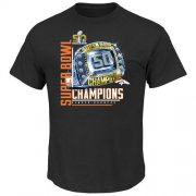 Wholesale Cheap Denver Broncos Majestic Big & Tall Super Bowl 50 Champions Victory Bling VIII T-Shirt Black