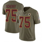 Wholesale Cheap Nike Redskins #75 Brandon Scherff Olive Youth Stitched NFL Limited 2017 Salute to Service Jersey