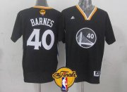 Wholesale Cheap Golden State Warriors #40 Harrison Barnes 2015 The Finals New Black Short-Sleeved Jersey