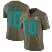 Wholesale Cheap Nike Dolphins #10 Kenny Stills Olive Youth Stitched NFL Limited 2017 Salute to Service Jersey