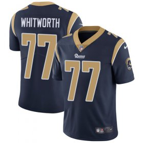 Wholesale Cheap Nike Rams #77 Andrew Whitworth Navy Blue Team Color Men\'s Stitched NFL Vapor Untouchable Limited Jersey