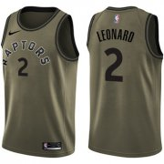 Wholesale Cheap Nike Toronto Raptors #2 Kawhi Leonard Green NBA Swingman Salute to Service Jersey