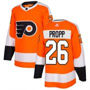 Wholesale Cheap Adidas Flyers #26 Brian Propp Orange Home Authentic Stitched NHL Jersey