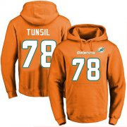 Wholesale Cheap Nike Dolphins #78 Laremy Tunsil Orange Name & Number Pullover NFL Hoodie