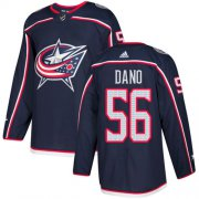 Wholesale Cheap Adidas Blue Jackets #56 Marko Dano Navy Blue Home Authentic Stitched NHL Jersey