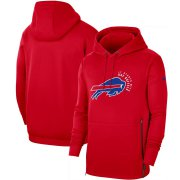 Wholesale Cheap Buffalo Bills Nike Sideline Local Performance Pullover Hoodie Red