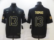 Wholesale Cheap Men's New Orleans Saints #13 Michael Thomas Black 2020 Salute To Service Stitched NFL Nike Limited Jersey