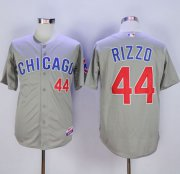Wholesale Cheap Cubs #44 Anthony Rizzo Grey Cool Base Stitched MLB Jersey