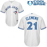 Wholesale Cheap Blue Jays #21 Roger Clemens White Cool Base Stitched Youth MLB Jersey