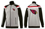 Wholesale Cheap NFL Arizona Cardinals Team Logo Jacket Grey