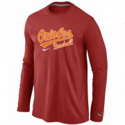 Wholesale Cheap Baltimore Orioles Long Sleeve MLB T-Shirt Red