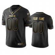 Wholesale Cheap Nike Bears Custom Black Golden Limited Edition Stitched NFL Jersey