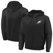 Wholesale Cheap Philadelphia Eagles Majestic Cap Logo Full-Zip Hoodie Black