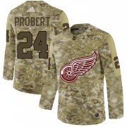 Wholesale Cheap Adidas Red Wings #24 Bob Probert Camo Authentic Stitched NHL Jersey