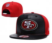Wholesale Cheap NFL San Francisco 49ers Team Logo Black Red Adjustable Hat YD