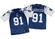 Wholesale Cheap Nike Cowboys #91 L. P. Ladouceur Navy Blue/White Throwback Men's Stitched NFL Elite Jersey